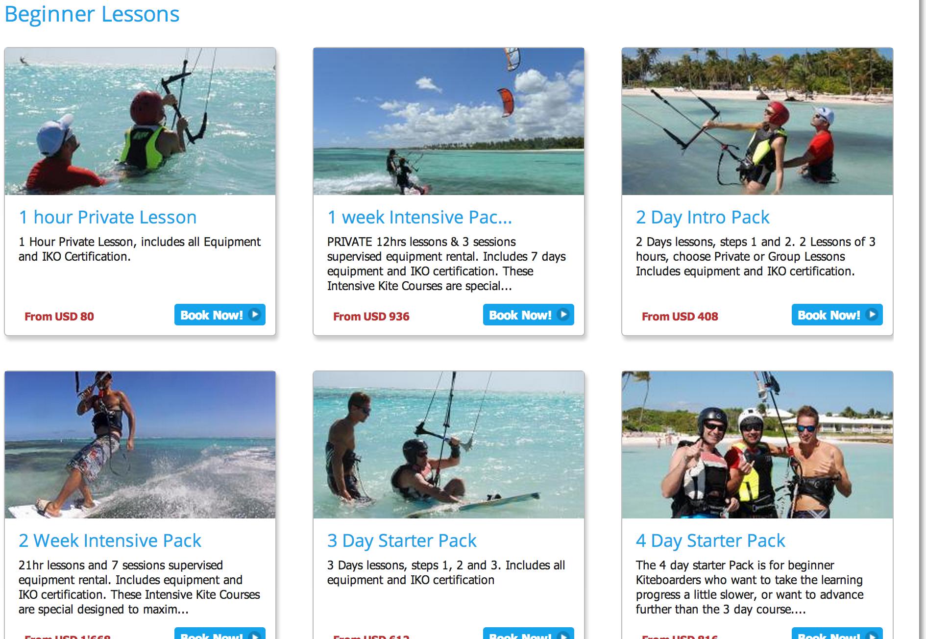 Kiteboarding lessons online